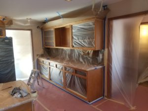 Kitchen cabinet painting in Fishers
