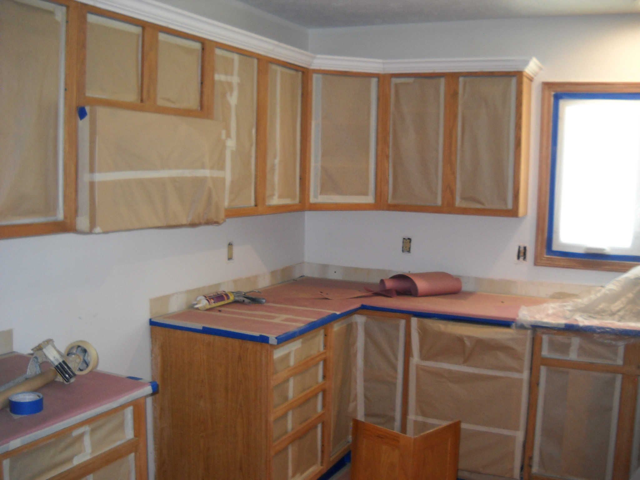 Cabinet Painting Prep