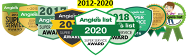 Angie's List Super Service Award 2012-2020